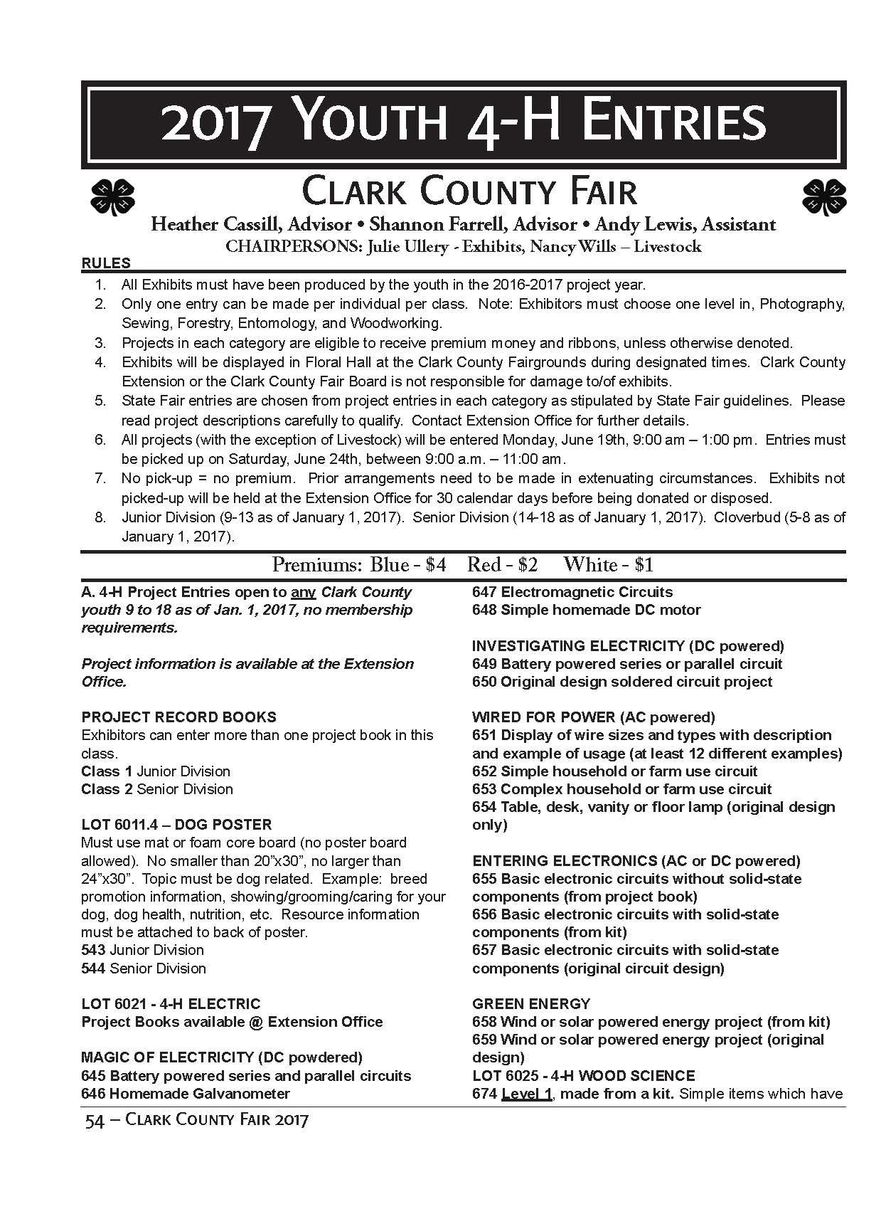4 H Fair Entry Information Clark County Science Series And Parallel Circuits 4th Grade Circuit